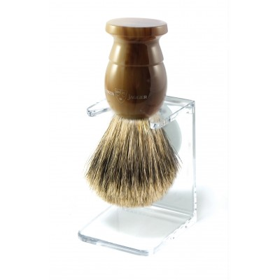 Shaving Brush,Light Horn,Extra Large,Best Badger with Drip Stand