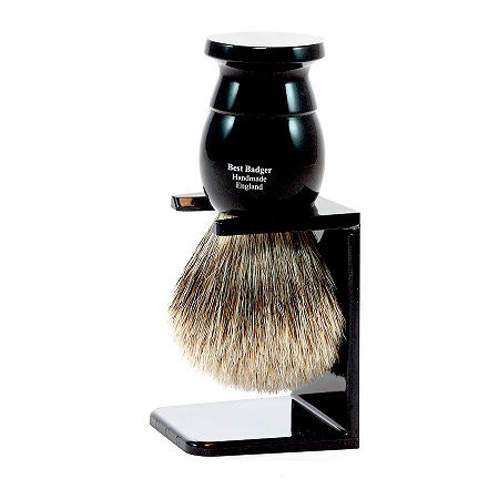 Shaving Brush, Ebony, Extra Large, Best Badger with Drip Stand