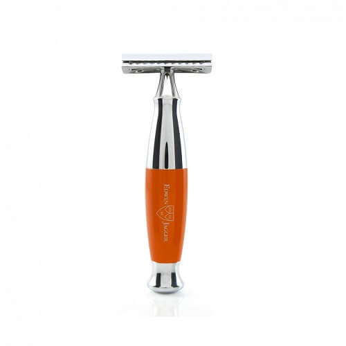 Edwin Jagger 36-Double edge razor, orange, Chrome Plated