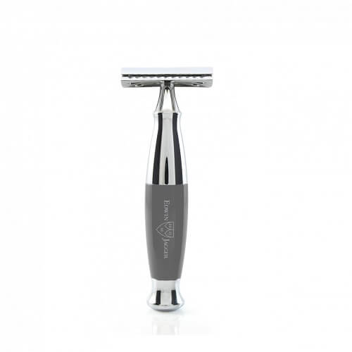 Edwin Jagger 36-Double edge razor, grey, Chrome Plated