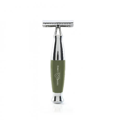 Edwin Jagger 36-Double edge razor, green, Chrome Plated