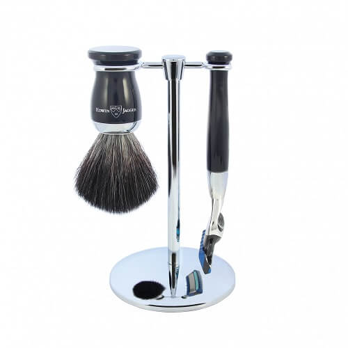 3pc set, Imitation Ebony, chrome plated, synthetic brush, fusion