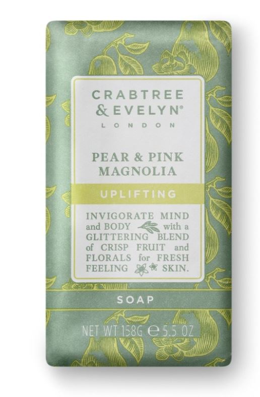 Crabtree & Evelyn Pear & Pink Magnolia Wrapped Soap 185 gr