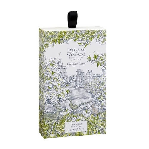 Woods of Windsor Lily of the Valley Fine English Soap 3 x 60 gr