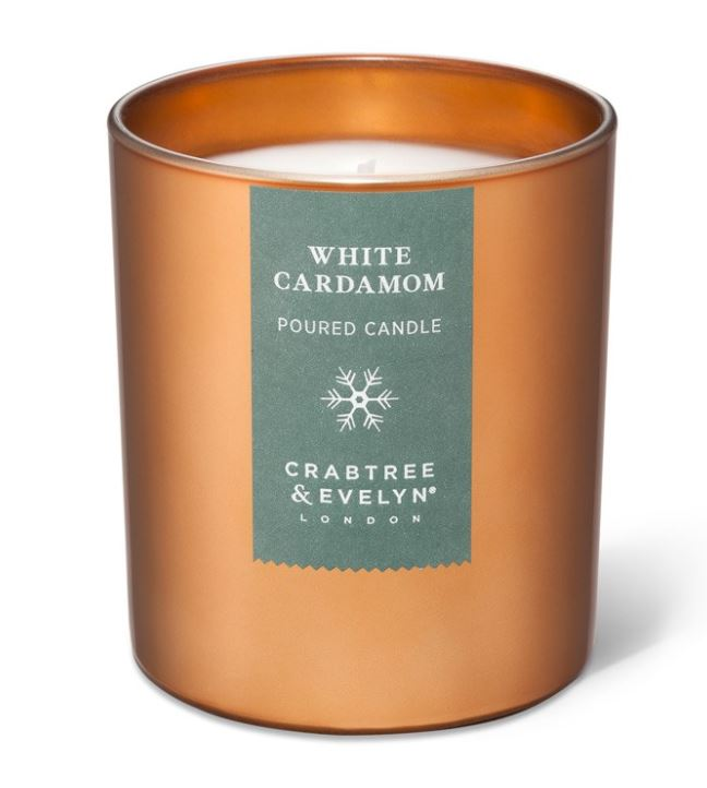 White Cardamom Large Candle 200 gr